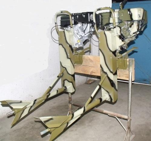 Внешний вид лодочных моторов-болотоходов
